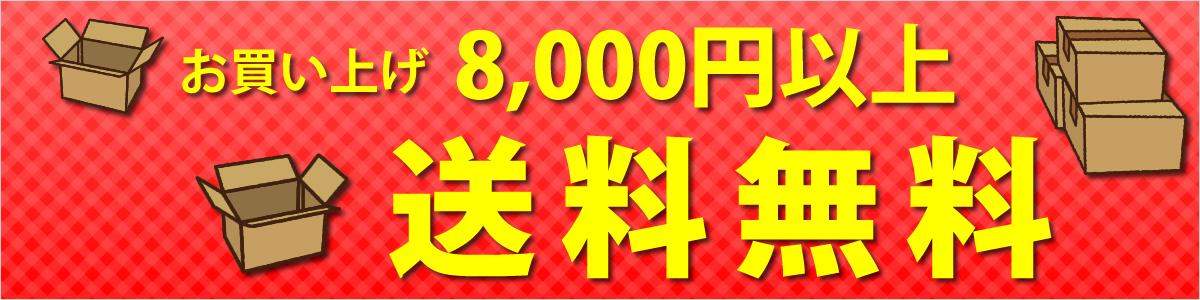 お買い上げ8,000円以上で送料無料
