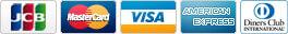 カード支払い対応会社: JCB / MasterCard / VISA / American Express / Diners Club