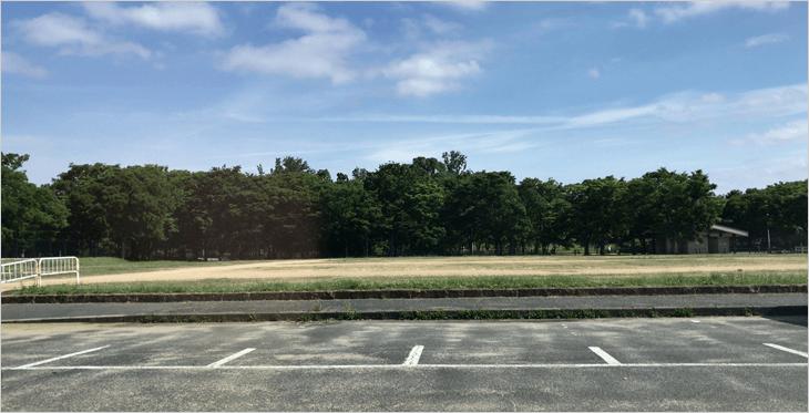 大泉緑地の駐車場